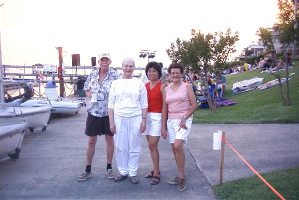 Lon, Mary, Angie, and Connie at the Yacht club.