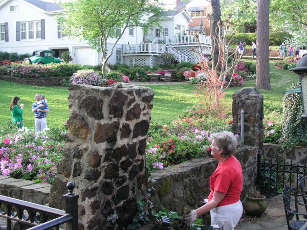 Homeowners thoughtfully invite the public to enjoy their backyard gardens