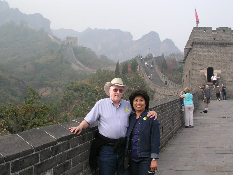 Angie and I on the Great Wall of China