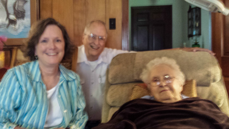 Natalee Reed, Jim Harrison, and Mrs. Catherine Thomas