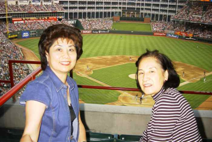 Angie and Shao Mai at The Ballpark in Arlington