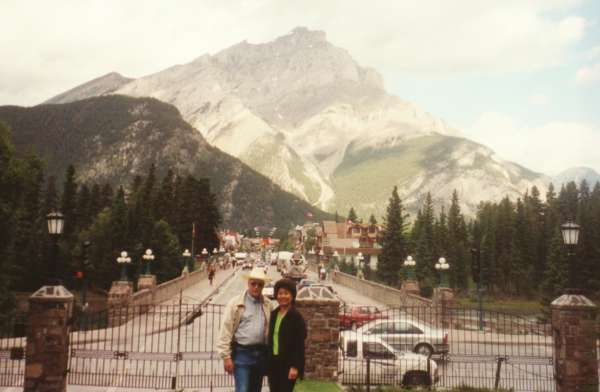 At the Banff Visitor Center with Cascade Mtn in background