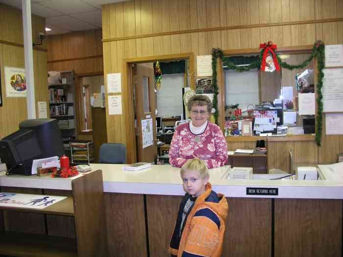 Mrs. Mattie and friend at the Gibson Co. Library in Trenton, TN