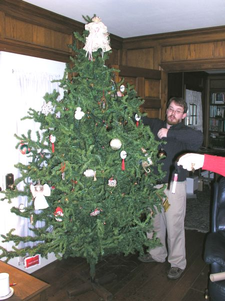 Nathan Reed decorating the 2004 Christmas Tree